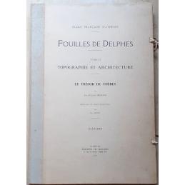 Fouilles de Delphes. Tome II. Topographie et architecture. Le temple de Thèbes. Planches seules