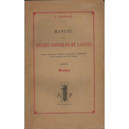 Manuel des études grecques et latines - Tome II : Rome