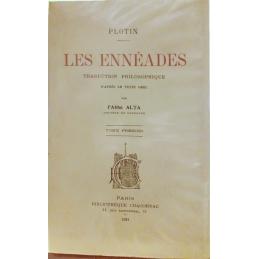 Les Ennéades : traduction philosophique d'après le texte grec par l'Abbé Alta, tome I