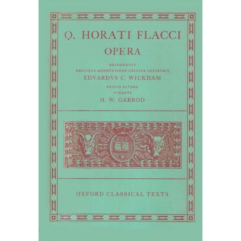 Q. Horati Flacci Opera