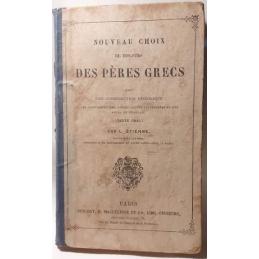 Nouveau choix de discours des Pères grecs. Texte grec