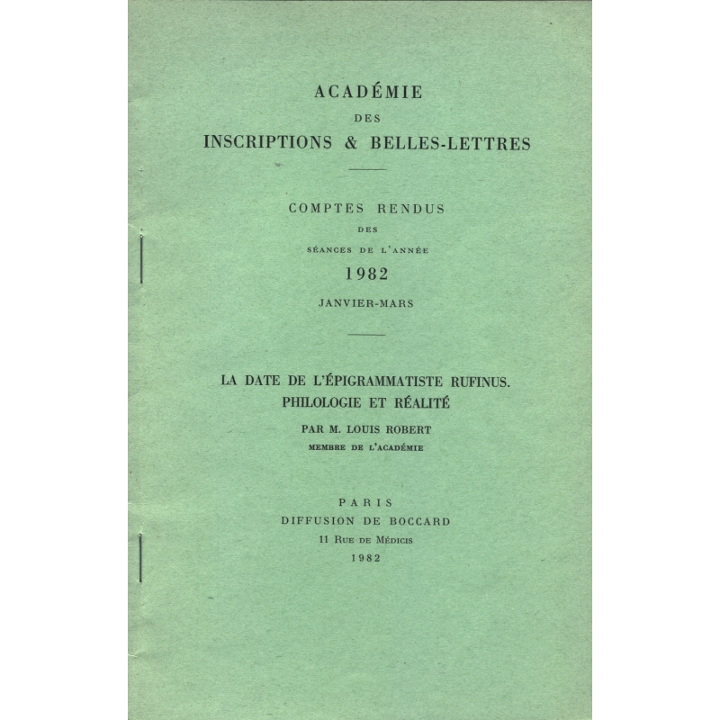 La date de l'épigrammatiste Rufinus