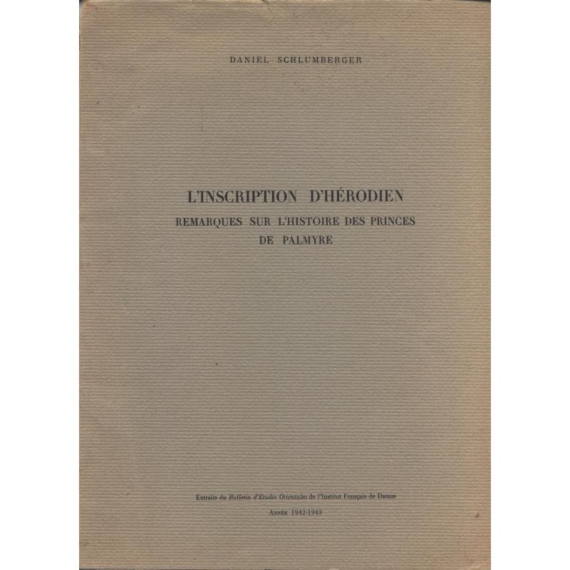 L'inscription d'Hérodien