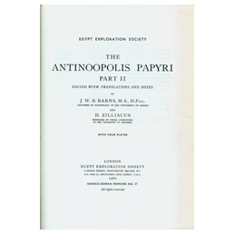 The Antinoopolis Papyri, Part II