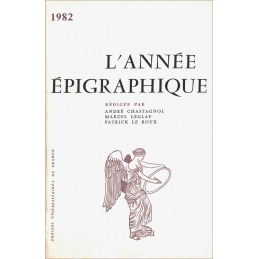 L'année épigraphique - 1982