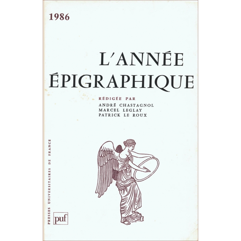 L'année épigraphique - 1986