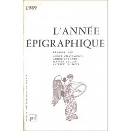 L'année épigraphique - 1989