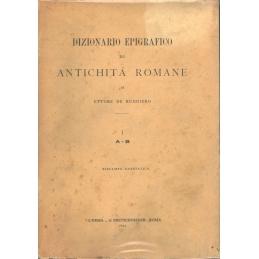 Dizionario epigrafico di antichità romane I  A - B