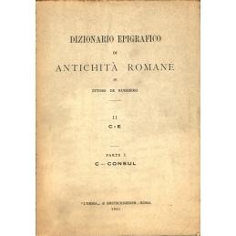 Dizionario epigrafico di antichità romane II  C - E, parte I C-Consul