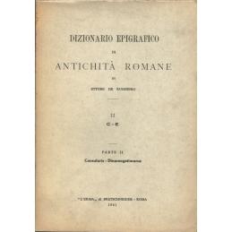 Dizionario epigrafico di antichità romane II  C - E, parte II Consularis - Dinomogetimarus