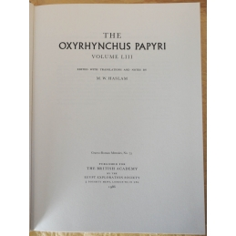 The Oxyrhynchus Papyri, Volume LIII
