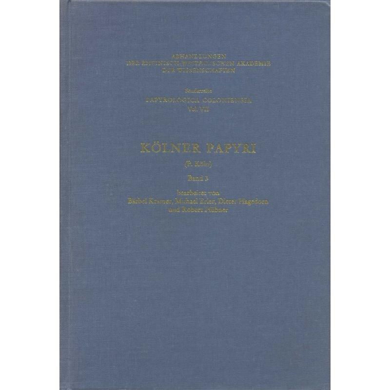 Kölner Papyri (P.Köln), Band 3