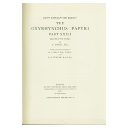 The Oxyrhynchus Papyri, Part XXXII
