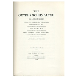 The Oxyrhynchus Papyri, Part XXXIII