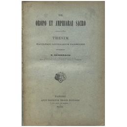 De Oropo et amphiarai sacro