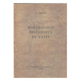 Morphologie historique du latin