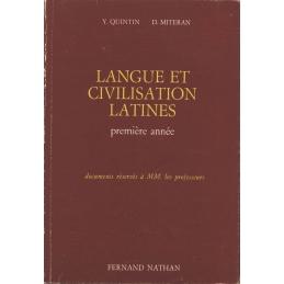 Langue et civilisation latines. Première année