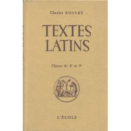 Textes latins. Cicéron. César. Ovide. Quinte-Curce. Tite-Live. Classe de quatrième et premier trimestre de 3e