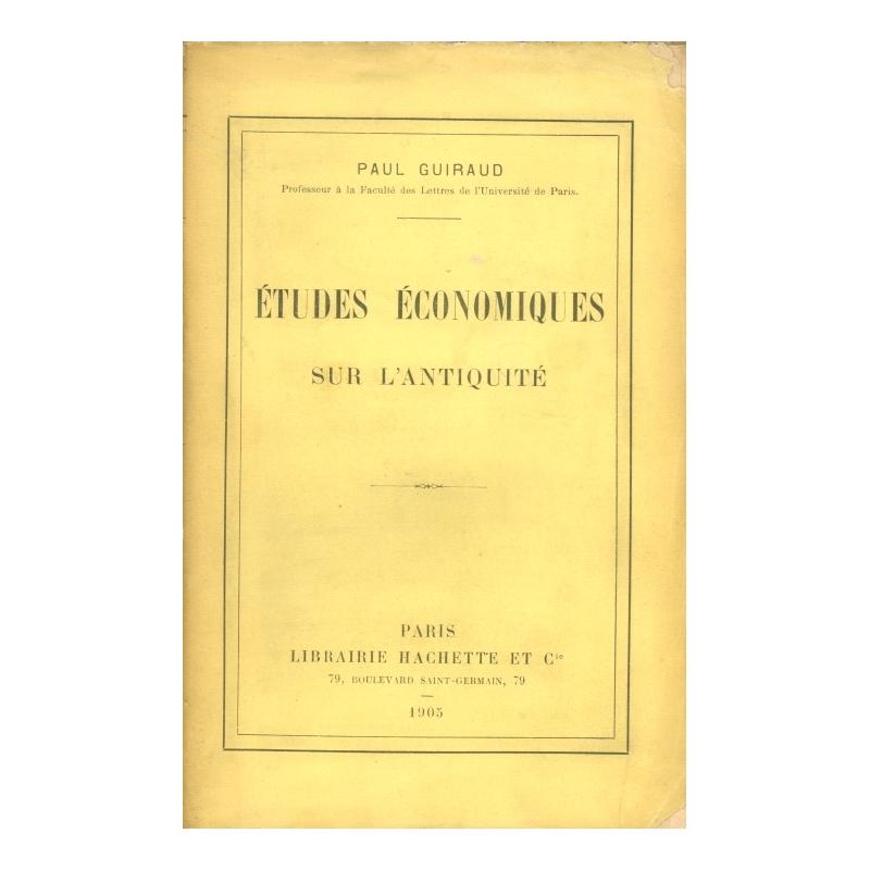 Etudes économiques sur l'Antiquité