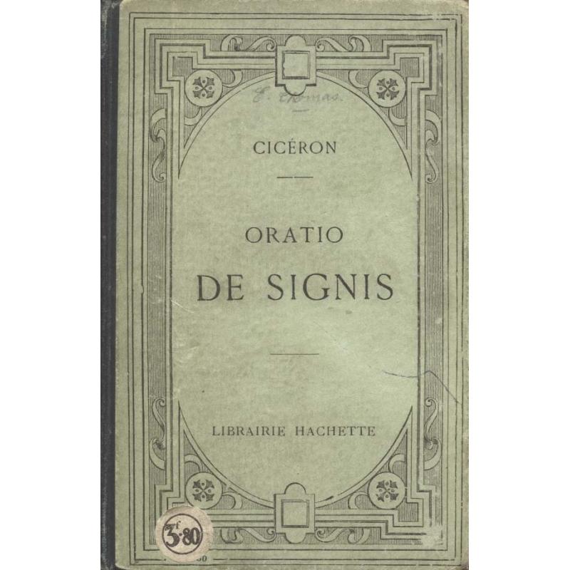 M. Tullii Ciceronis in C. Verrem Orationes. Actio secunda, Liber IV   De Signis