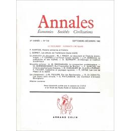 Annales (économies - sociétés - civilisations) 37e année