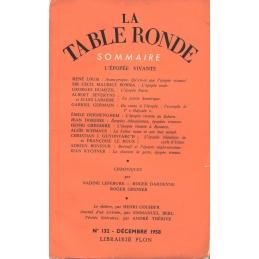 La Table Ronde n° 132, décembre 1958. L'Epopée Vivante
