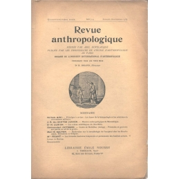 Revue anthropologique. Quarante-neuvième année. N° 7-9. Juillet-septembre 1939