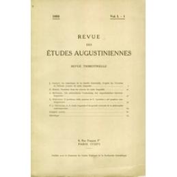 Revue des études augustiniennes, 1955 - Vol. I, 1