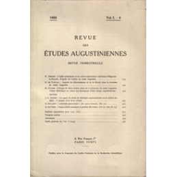 Revue des études augustiniennes, 1955 - Vol. I, 4