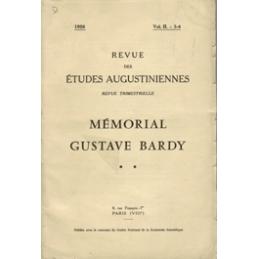 Revue des études augustiniennes, 1956 - Vol. II, 3-4 : Mémorial Gustave Bardy **