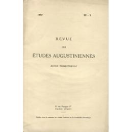 Revue des études augustiniennes, 1957 - Vol. III, 3