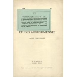 Revue des études augustiniennes, 1958 - Vol. IV, 4