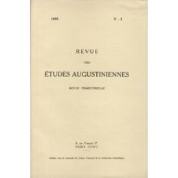 Revue des études augustiniennes, 1959 - Vol. V, 1