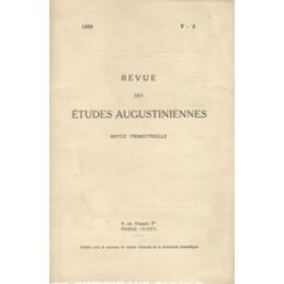 Revue des études augustiniennes, 1959 - Vol. V, 2