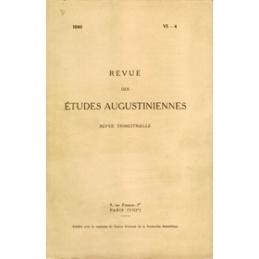 Revue des études augustiniennes, 1960 - Vol. VI, 4