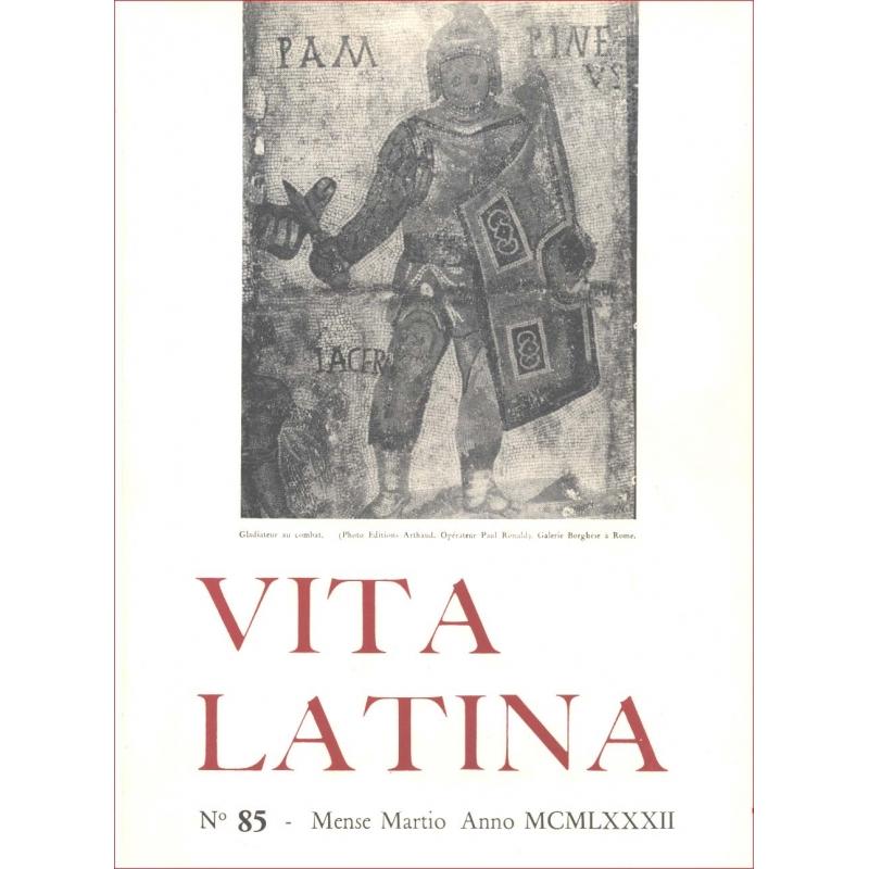 Vita Latina - N° 85. Mense Martio Anno MCMLXXXII