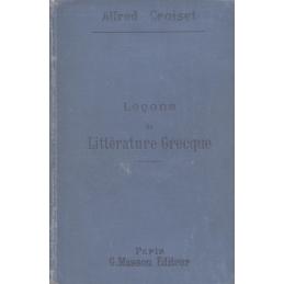 Leçons de littérature grecque