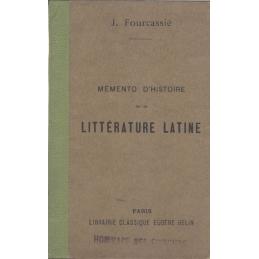 Mémento d'histoire de la littérature latine
