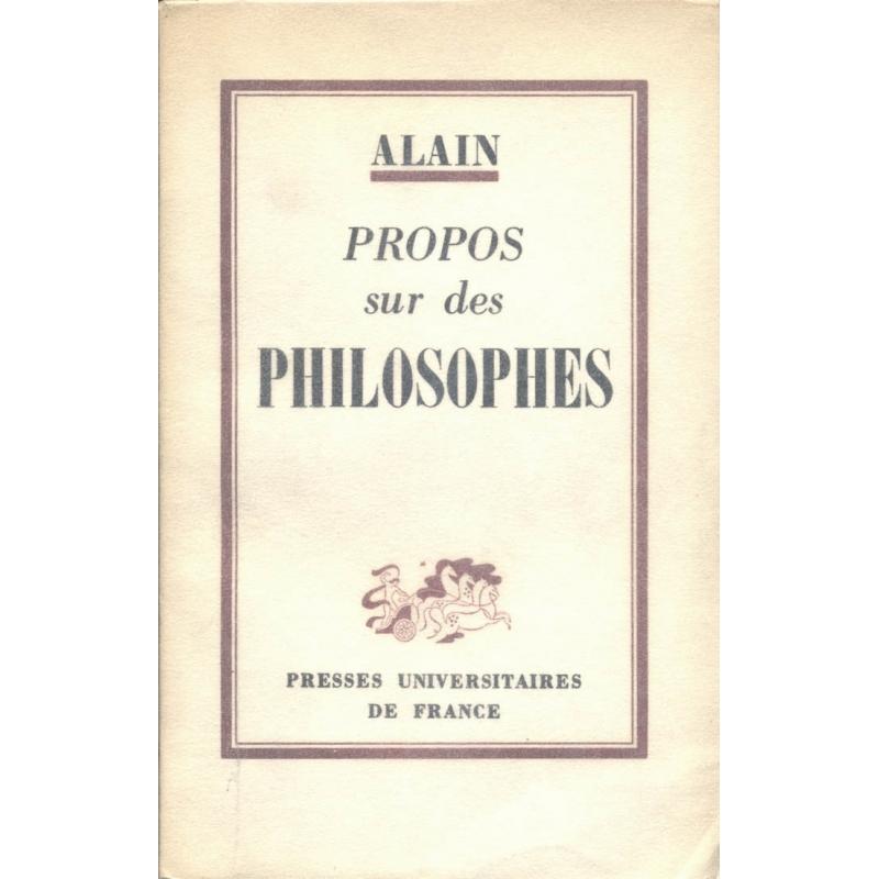 Propos sur des philosophes