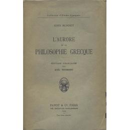 L'Aurore de la philosophie grecque
