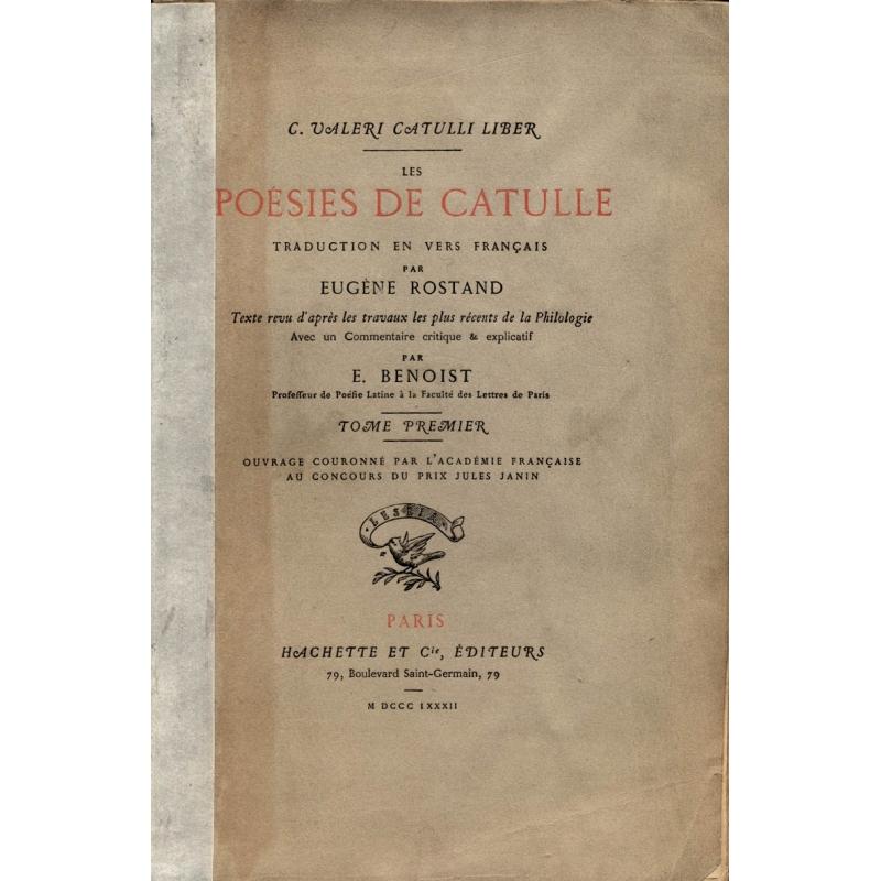 C. Valeri Catulli liber. Les poésies de Catulle