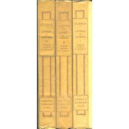 Lettres à Atticus, tomes I, II, III (livres I à XVI)
