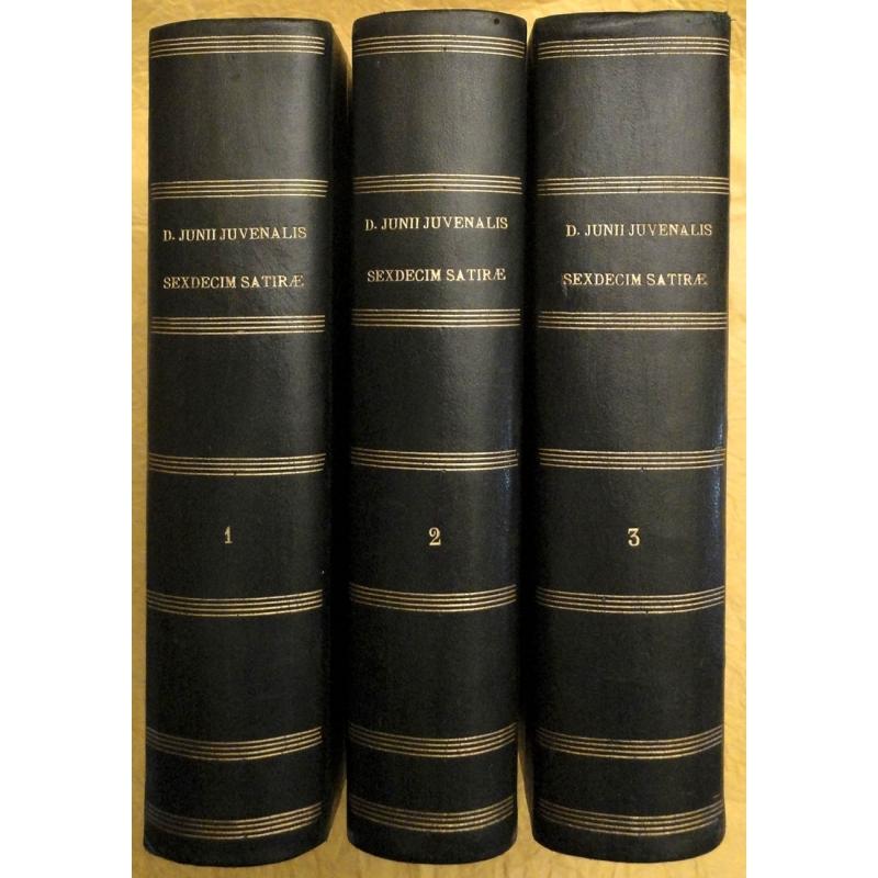 D. Junii Juvenalis Sexdecim Satiræ (tomes I et II) - A. Persii Flacci Sex Satirae (tome III)