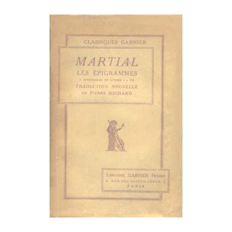 Les épigrammes (deux tomes)