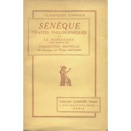 Traités philosophiques, tome III   La bienfaisance (Les bienfaits)