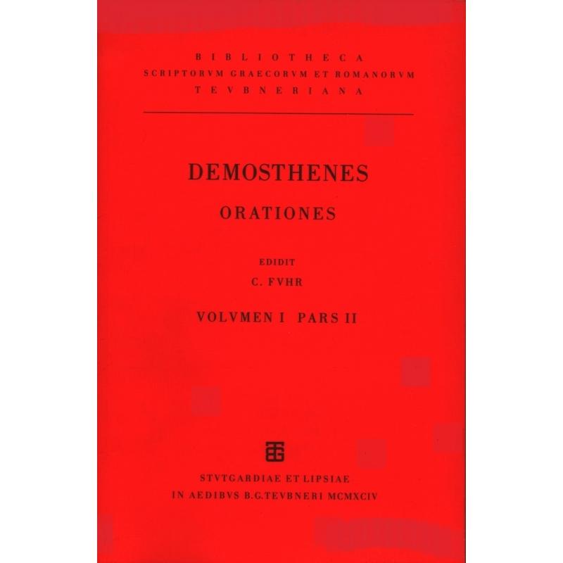 Orationes XVIII, vol I. Pars II.