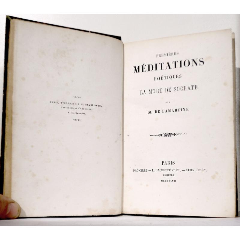 Œuvres complètes de A. Lamartine, tome I  Premières méditations poétiques. La mort de Socrate