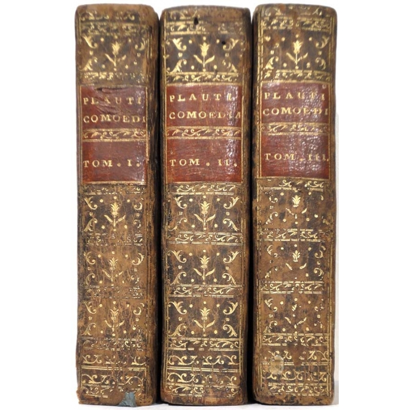 Marci Accii Plauti Comœdiæ quæ supersunt. Tomus I, II, III