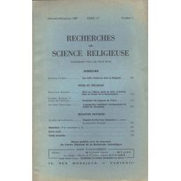 Recherches de science religieuse. Octobre - décembre 1967. Tome 55 n° 4