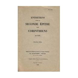 Entretiens sur la Seconde Epître aux Corinthiens